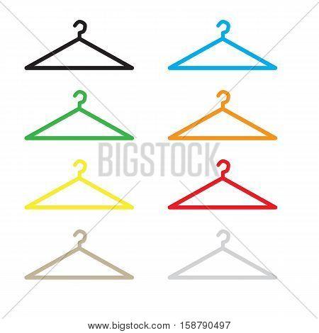 hanger icon flat design style. hanger sign.