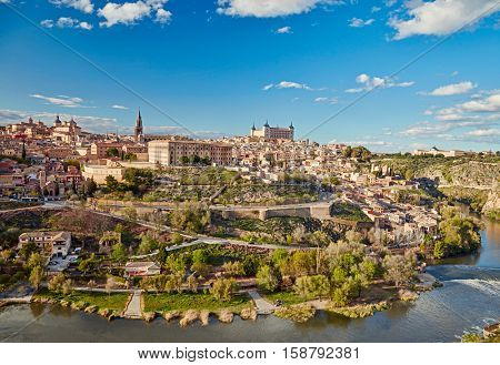 Toledo, Spain. Old town city scape.