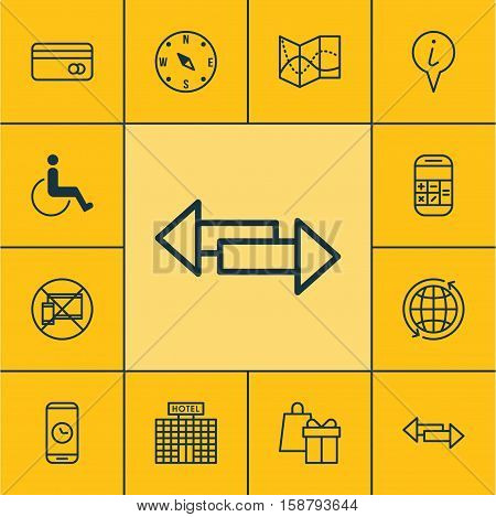 Set Of Transportation Icons On Accessibility, Info Pointer And Call Duration Topics. Editable Vector Illustration. Includes Calculation, Phone, Debit And More Vector Icons.
