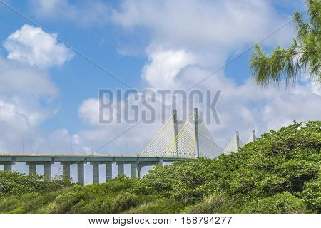 Big Bridge Over Atlantic Ocean Natal Brazil