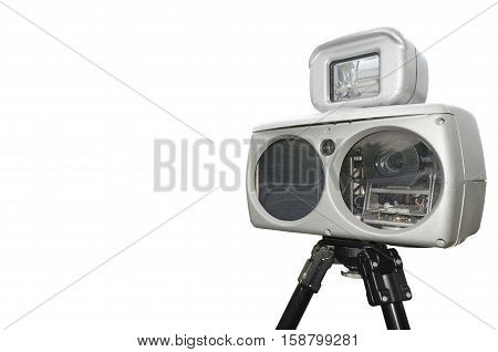 speed camera isolated on a white background