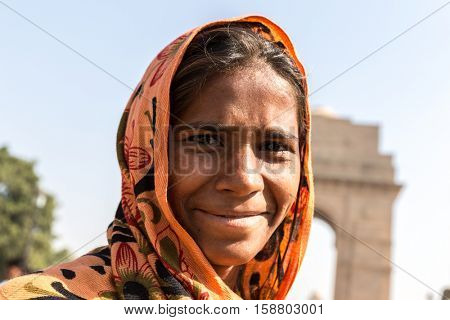Indian gipsy girl, New Delhi, India