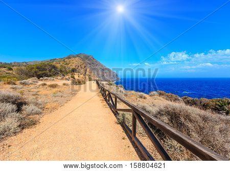 Summer Sunshiny Rocky Coast (costa Blanca, Spain).