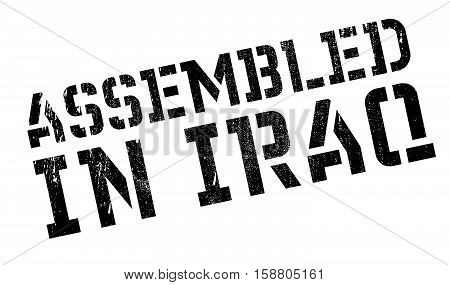 Assembled In Iraq Rubber Stamp