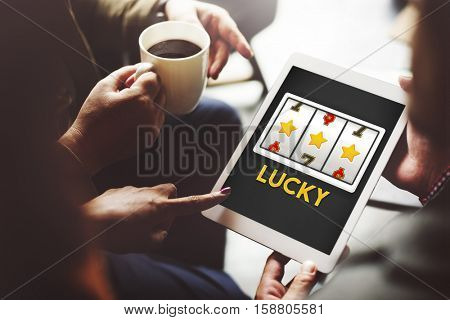 Online Casino Luck Gamble Concept