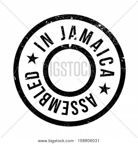 Assembled In Jamaica Rubber Stamp