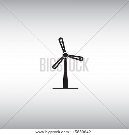 Windmill flat vector sign. Isolated windmill vector icon. Alternative energy symbol. Clean energy source vector image.
