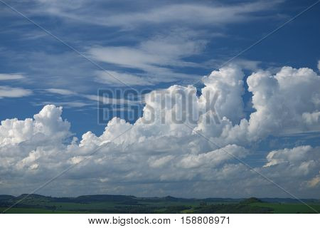 Cloudscape rural scene clouds horizon cumulus nimbus