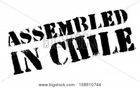 Assembled In Chile Rubber Stamp