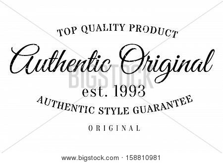 Authentic Original Product Stamp