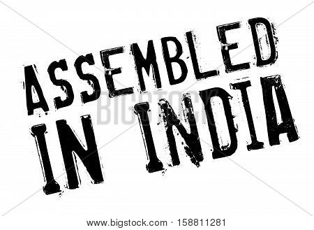 Assembled In India Rubber Stamp