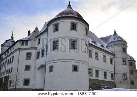 castle Nossen in winter, Germany in Europe