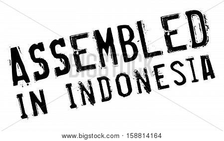 Assembled In Indonesia Rubber Stamp