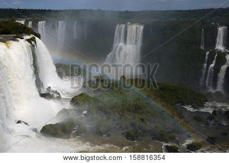 Iguazu Falls Foz Iguacu Brazil Argentina waterfall tourism