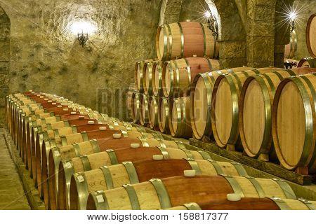 Wine Cellar at a Long Island Vineyard