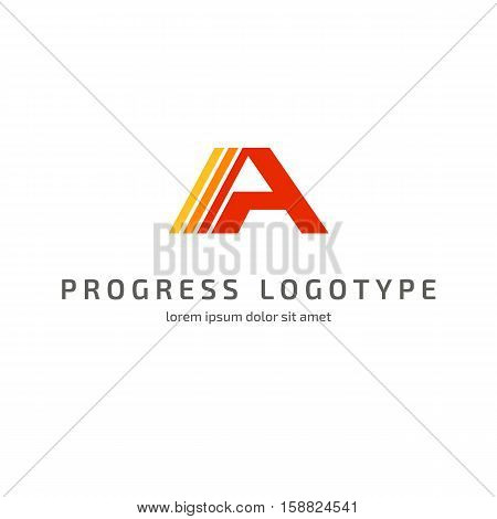Illustration design of logotype business flat symbol