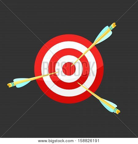 Vector icon Target and Arrows eps 8 file format