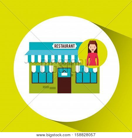 buyer girl shopping bags gift vector illustration eps 10