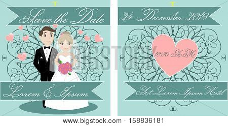 Wedding Card Invitation, Save the Special Date, Getting Married, Invitation, Celebration, Greeting, EPS 10