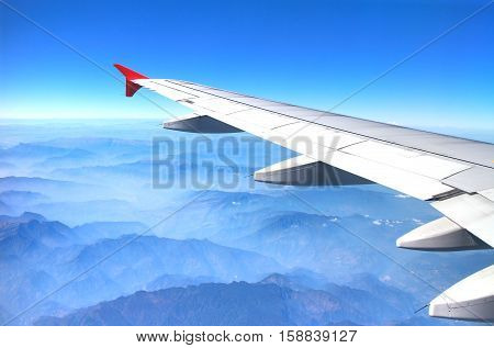 Fly in the sky from Bangkok ,Thailand to Xian, China