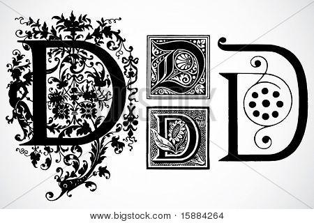 Vector Letter D - Set 1