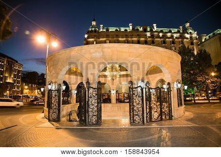 Entrance in down town (Icheri Sheher) metro station, Baku, Azerbaijan