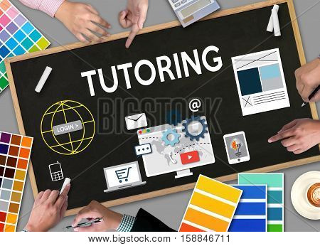 Tutoring ,  Tutor And His Online Education , Teaching Tutoring  Learning Education Teacher , Tutor C