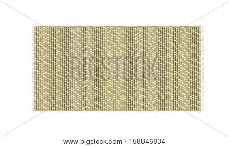 Straw mat vector illustration isolated on white background. Rug top view.