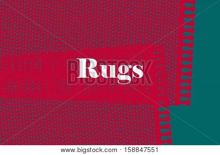 Carpets vector illustration isolated on green background.