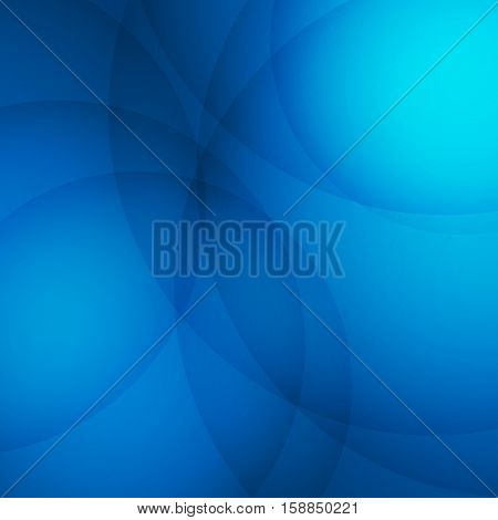 Curve element with blue background, stock vector