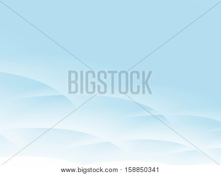 Light blue and white fractal with crossing curves resembling sky with stylized clouds. Text space. Fine gentle pure modern. For layouts templates presentations pamphlets PC or phone background.