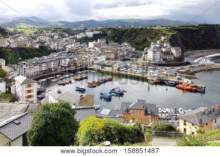 Luarca, Spain, November 7, 2016: The fishing city of Luarca in Spain.