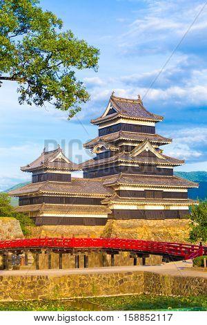 Matsumoto Castle Keep Close Telephoto Bridge