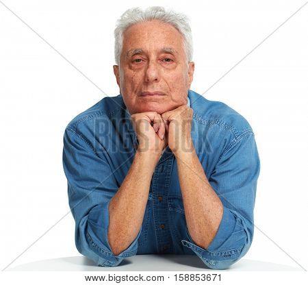 Elderly man portrait.
