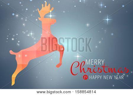 Merry christmas message against purple vignette