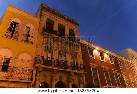 Architectural detail in the old town of Faro - Capital of Algarve - Portugal, Europe