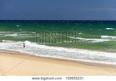 Atlantic Beach in Algarve, Portugal, Europe