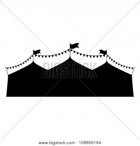 Circus tent festival icon vector illustration graphic design