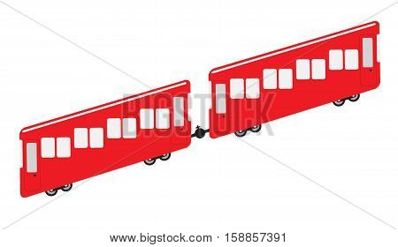Funicular or cliff railway icon Vector Illustration