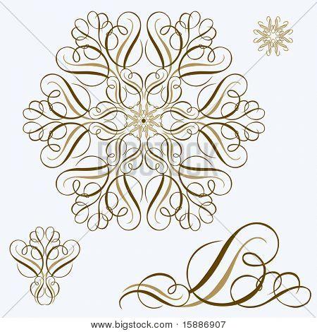 Vector Ornament Swirl Set