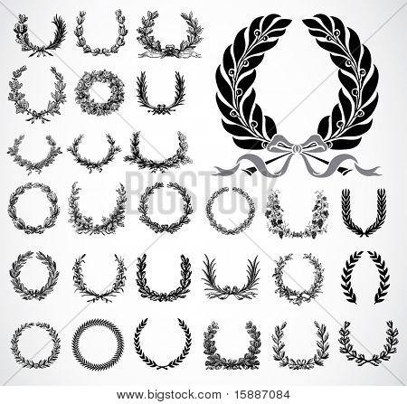 Vector Ornate Wreath Set