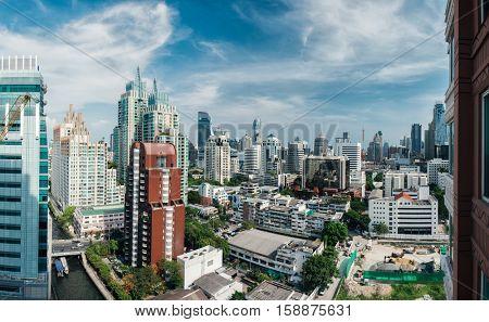 City of Bangkok at sunny day. Thailand