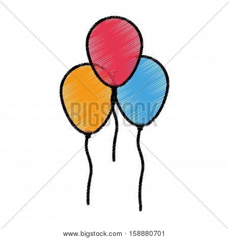 Balloons icon. Happy birthday celebration decoration and party theme. Isolated design. Vector illustration