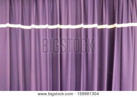 Elegant curtain and purple drapes, curtain background