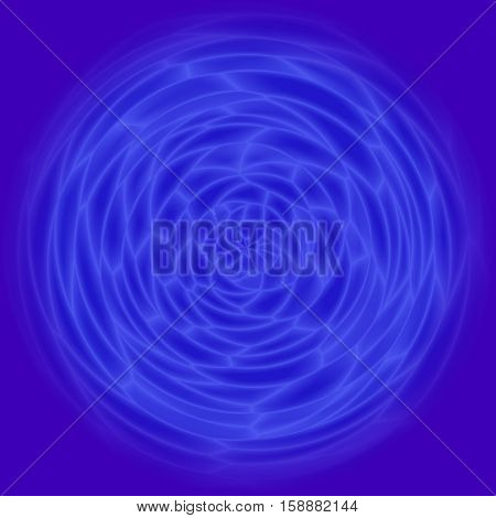 Abstract blue circle rose esoteric graphic background