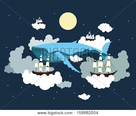 Sailing through the sky.  Test your imagination.