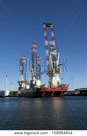 ESBJERG DENMARK - NOVEMBER 27 2016: Specialist ship