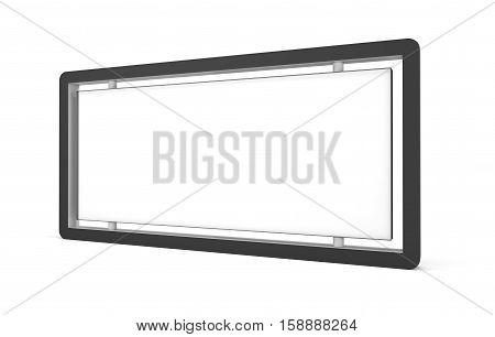 White lightbox on white background. 3D rendering