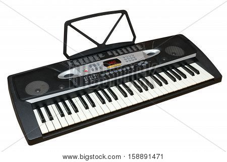 Isolated on a white image of an electronic piano