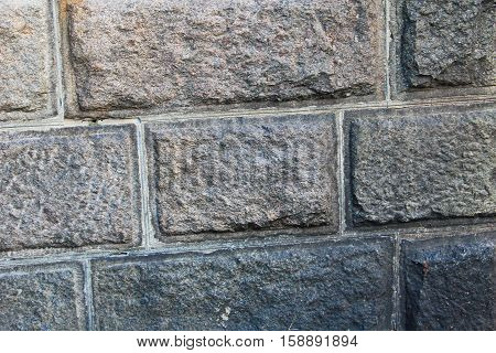 Pattern of big square block wall texture. Stone wall background